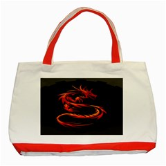 Dragon Classic Tote Bag (red) by BangZart
