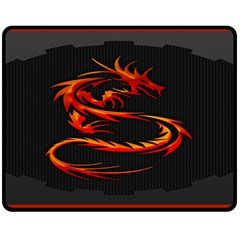 Dragon Double Sided Fleece Blanket (medium)  by BangZart