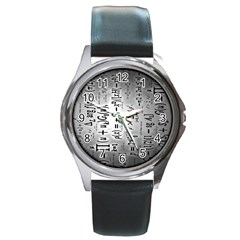 Science Formulas Round Metal Watch