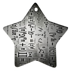 Science Formulas Star Ornament (two Sides) by BangZart