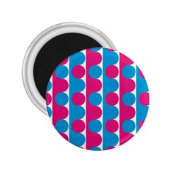 Pink And Bluedots Pattern 2 25  Magnets
