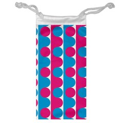 Pink And Bluedots Pattern Jewelry Bag