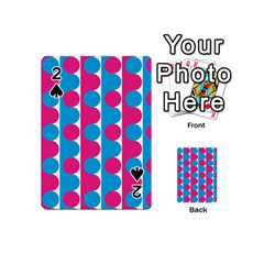 Pink And Bluedots Pattern Playing Cards 54 (mini)  by BangZart