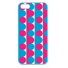 Pink And Bluedots Pattern Apple Seamless Iphone 5 Case (color)