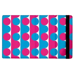 Pink And Bluedots Pattern Apple Ipad 2 Flip Case by BangZart