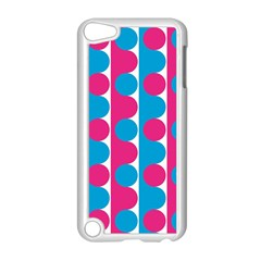 Pink And Bluedots Pattern Apple Ipod Touch 5 Case (white) by BangZart