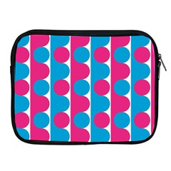 Pink And Bluedots Pattern Apple Ipad 2/3/4 Zipper Cases