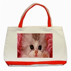 Cat  Animal  Kitten  Pet Classic Tote Bag (red) by BangZart