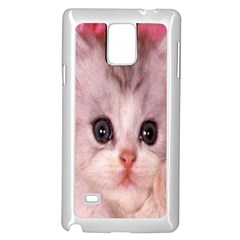 Cat  Animal  Kitten  Pet Samsung Galaxy Note 4 Case (white) by BangZart