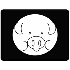 Pig Logo Double Sided Fleece Blanket (large)  by BangZart