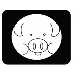 Pig Logo Double Sided Flano Blanket (medium)  by BangZart