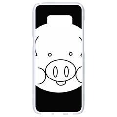 Pig Logo Samsung Galaxy S8 White Seamless Case by BangZart