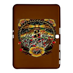 Tattoo Art Print Traditional Artwork Lighthouse Wave Samsung Galaxy Tab 4 (10 1 ) Hardshell Case  by BangZart