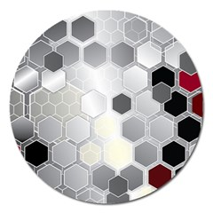 Honeycomb Pattern Magnet 5  (round) by BangZart