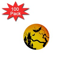 Halloween Night Terrors 1  Mini Buttons (100 Pack)  by BangZart