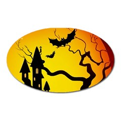 Halloween Night Terrors Oval Magnet