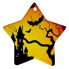 Halloween Night Terrors Star Ornament (two Sides) by BangZart