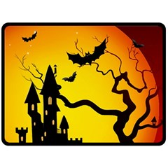 Halloween Night Terrors Fleece Blanket (large)  by BangZart