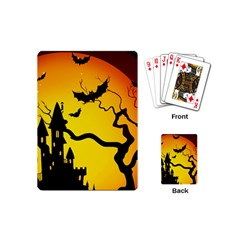 Halloween Night Terrors Playing Cards (mini)  by BangZart