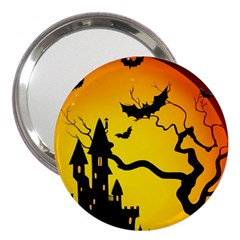 Halloween Night Terrors 3  Handbag Mirrors by BangZart
