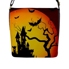 Halloween Night Terrors Flap Messenger Bag (l)