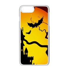 Halloween Night Terrors Apple Iphone 7 Plus White Seamless Case by BangZart