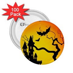 Halloween Night Terrors 2 25  Buttons (100 Pack)  by BangZart