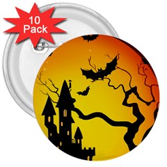 Halloween Night Terrors 3  Buttons (10 Pack)
