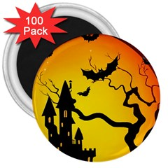 Halloween Night Terrors 3  Magnets (100 Pack) by BangZart