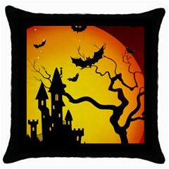 Halloween Night Terrors Throw Pillow Case (black) by BangZart