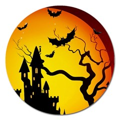 Halloween Night Terrors Magnet 5  (round) by BangZart