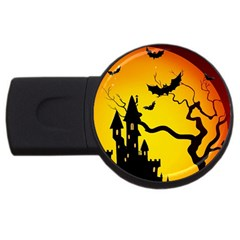 Halloween Night Terrors Usb Flash Drive Round (2 Gb) by BangZart