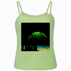 Planets In Space Stars Green Spaghetti Tank