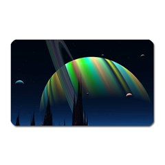 Planets In Space Stars Magnet (rectangular) by BangZart