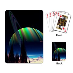 Planets In Space Stars Playing Card