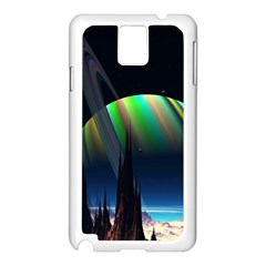 Planets In Space Stars Samsung Galaxy Note 3 N9005 Case (white) by BangZart