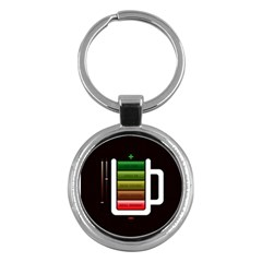 Black Energy Battery Life Key Chains (round)  by BangZart