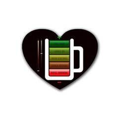 Black Energy Battery Life Heart Coaster (4 Pack)