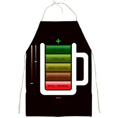 Black Energy Battery Life Full Print Aprons by BangZart