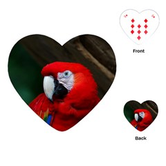Scarlet Macaw Bird Playing Cards (heart)