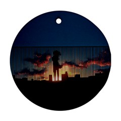 Art Sunset Anime Afternoon Ornament (round)