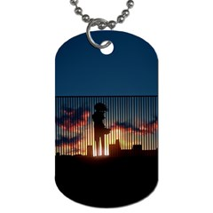 Art Sunset Anime Afternoon Dog Tag (one Side)