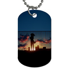 Art Sunset Anime Afternoon Dog Tag (two Sides)