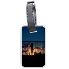 Art Sunset Anime Afternoon Luggage Tags (one Side)  by BangZart