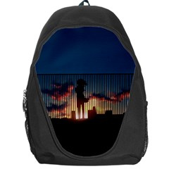 Art Sunset Anime Afternoon Backpack Bag by BangZart