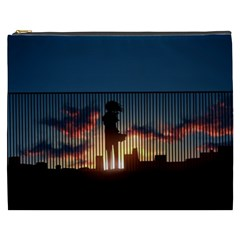 Art Sunset Anime Afternoon Cosmetic Bag (xxxl)