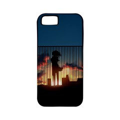 Art Sunset Anime Afternoon Apple Iphone 5 Classic Hardshell Case (pc+silicone)