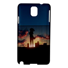 Art Sunset Anime Afternoon Samsung Galaxy Note 3 N9005 Hardshell Case by BangZart