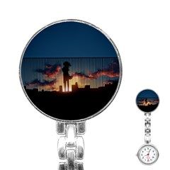 Art Sunset Anime Afternoon Stainless Steel Nurses Watch by BangZart