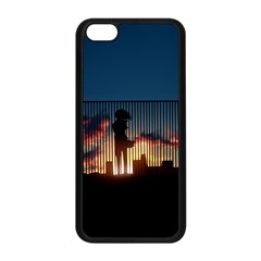 Art Sunset Anime Afternoon Apple Iphone 5c Seamless Case (black)